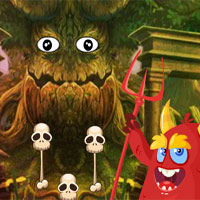 Free online flash games - Games4King Little Red Devil Rescue game - WowEscape