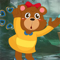 Free online flash games - G4K Cute Cartoon Bear Escape  game - WowEscape