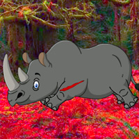 Free online flash games - Big Rhinoceros Forest Escape game - WowEscape
