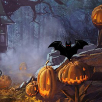 Free online flash games - Halloween Pumpkin Haunted Forest Escape game - WowEscape