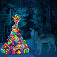 Free online flash games - Wowescape Escape Game Wild Moon Christmas game - WowEscape