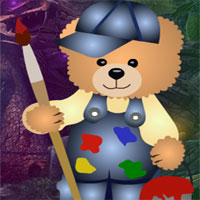 Free online flash games - G4K Painting Bear Rescue Escape game - WowEscape