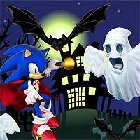 Free online flash games - Sonic Halloween Jump game - WowEscape
