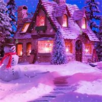 Free online flash games - HOG Night Christmas Hidden Snowman