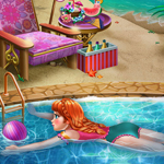 Free online flash games - Anna Swimming Pool game - WowEscape