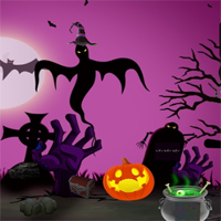 Free online flash games - Halloween Find The Magic Globe game - WowEscape