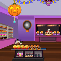 Free online flash games - Games4Escape Halloween Cake Shop Escape game - WowEscape