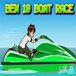 Free online flash games - Ben10 Boat Race game - WowEscape