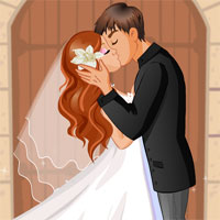 Free online html5 games -  A Brides First Kiss game