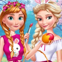 Free online flash games - Elsa And Anna Easter Fun game - WowEscape