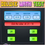 Free online flash games - Deluxe Math Test game - WowEscape