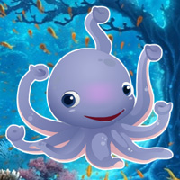 Free online flash games - Hiddenogames Hidden Little Octopus game - WowEscape
