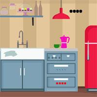 Free online flash games - GFG Kitchen Door Escape 3  game - WowEscape
