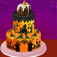 Free online flash games - Creepy Halloween Cream Cake game - WowEscape