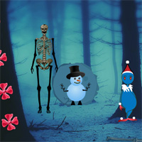 Free online flash games - Big Christmas Creepy Forest Escape game - WowEscape