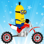 Free online flash games - Minions Bike Race game - WowEscape