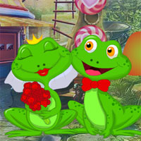Free online flash games - G4K Lovely Frogs Escape