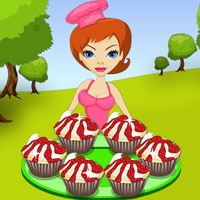 Free online html5 games - Chef Keni Cherry Cupcakes game