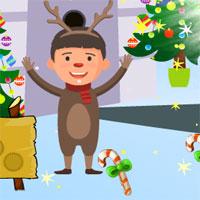 Free online flash games - AVM Christmas Deer Boy Escape game - WowEscape