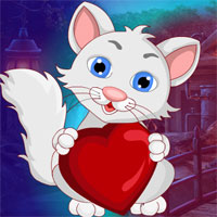 Free online flash games - G4K Lovely Heart Cat Escape game - WowEscape