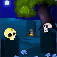 Free online flash games - MirchiGames Moonlight Skull Forest Escape game - WowEscape