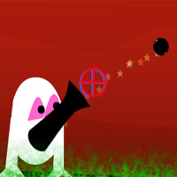 Free online flash games - Fat Moon Cannon LonGanimalsGames game - WowEscape