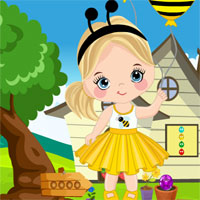 Free online flash games - Games4King Merry Girl With Balloon Rescue Escape game - WowEscape
