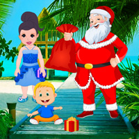 Free online flash games - Santa Surprise at the Seashore game - WowEscape