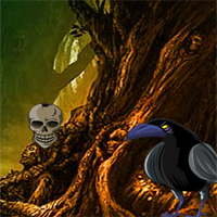 Free online flash games - Halloween Crow Forest Escape game - WowEscape