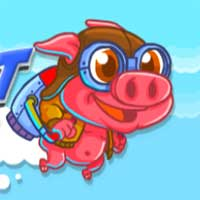 Free online flash games - Rocket Pig Kiz10 game - WowEscape