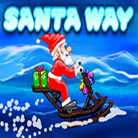 Free online flash games - Santa Way 2 game - WowEscape