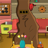 Free online flash games - GFG Tree Trunk House Escape game - WowEscape