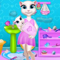 Free online flash games - Talking Angela Bathroom Renovation game - WowEscape