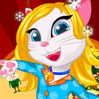 Free online flash games - Angela Christmas Pyjama Party game - WowEscape
