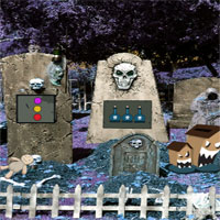 Free online flash games - GFG Halloween Graveyard Escape