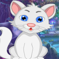 Free online flash games - G4k White Cat Rescue game - WowEscape