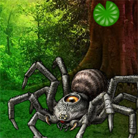 Free online flash games - Wow Giant Spider Forest Escape