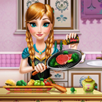 Free online html5 games - Anna Real Cooking game