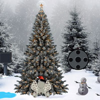 Free online flash games - Christmas Tree Forest Escape game - WowEscape