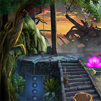 Free online flash games - Games4king Standing Cartoon Cheetah Escape game - WowEscape