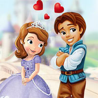 Free online html5 games - Princess Sofia Kissing game