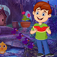 Free online flash games - Games4King Watermelon Boy Rescue Escape game - WowEscape