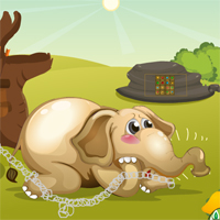 Free online flash games - GenieFunGames Rescue The Little Elephant game2rule