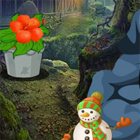 Free online flash games - AVM Christmas Forest Escape