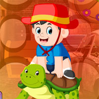 Free online html5 games - G4K Turtle And Little Boy Escape  game