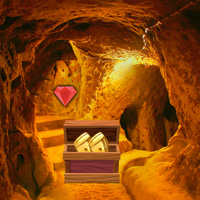 Free online flash games - Big Golden Cave Land Escape game - WowEscape