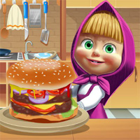 Masha Cooking Big Burger CookingGames
