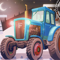 Free online flash games - Christmas Tractor Racing game - WowEscape