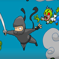 Free online html5 games - Super Ninja Skydiving Plus Zombies Newgrounds game