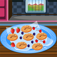 Free online flash games - Chocolate Walnut Cookies Cookingjunior game - WowEscape